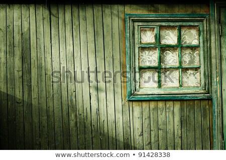 schep · houten · donkere · geschilderd · geïsoleerd · witte - stockfoto © klinker