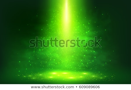 green background with particle effect vector illustration Stock photo © SArts