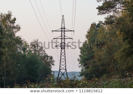 elétrico · blue · sky · silhueta · tecnologia · azul · indústria - foto stock © blasbike