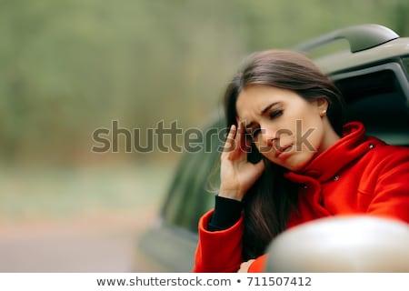 carro · doente · mulher · movimento · doença · sofrimento - foto stock © nicoletaionescu