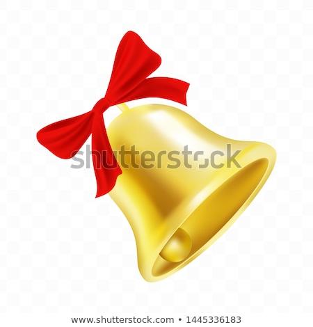 Laatste gouden bel Rood boeg geïsoleerd Stockfoto © orensila