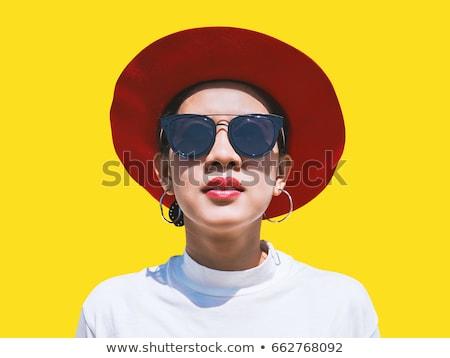 ázsiai · divat · modell · közelkép · kint · portré - stock fotó © artfotodima
