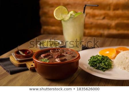 Cerdo salchicha harina crudo vino blanco alimentos Foto stock © Digifoodstock