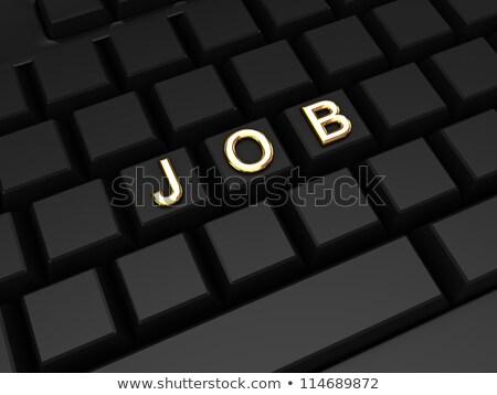 青 · 就職活動 · キーパッド · キーボード · 3D - ストックフォト © tashatuvango