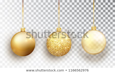 Colorful Vector Christmas Ball Set on a Transparent Background. Isolated Realistic Decorations. Stock photo © articular