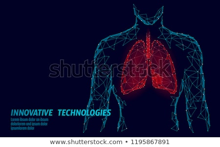 silhouette of lung disease  Stock photo © Olena