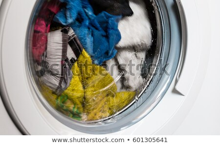 blue terry towel in washing machine Stock photo © ssuaphoto