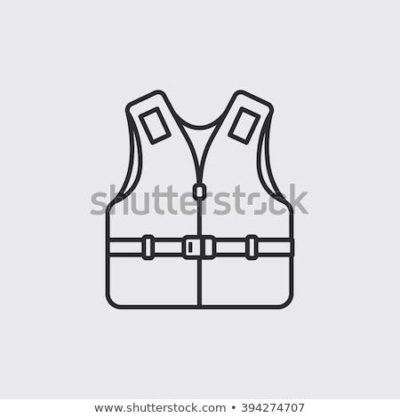 life vest line icon stock photo © rastudio