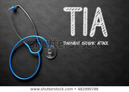 sztetoszkóp · iskolatábla · cukorbetegség · kórház · gyógyszer · tabletták - stock fotó © tashatuvango