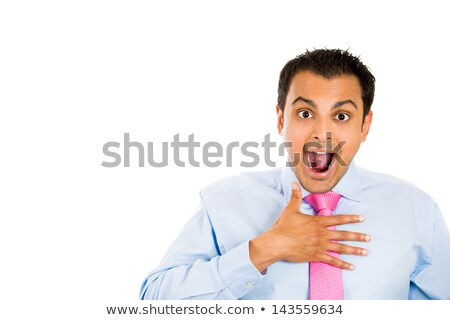 portrait of a surprised excited businessman stock photo © deandrobot