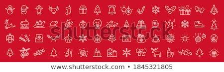 allegro · Natale · acquerello · carta · vettore · rosso - foto d'archivio © sonya_illustrations