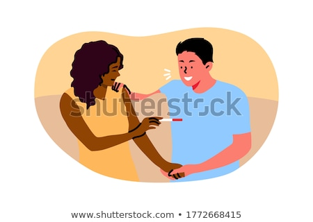Couple looking at home pregnancy test Stock photo © monkey_business