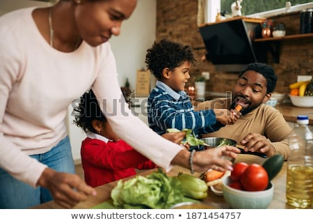 Boys with vegetables Stock photo © IS2