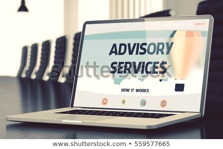 Audit Services - on Laptop Screen. Closeup. Stock photo © tashatuvango