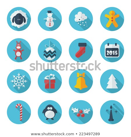 Christmas icons internet banner background. Stock photo © cifotart