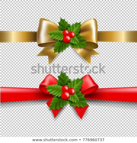 Рождества · красный · лук · листьев - Сток-фото © cammep
