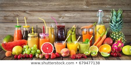 Bottle of healthy fruit green juice smoothie Stock photo © DenisMArt
