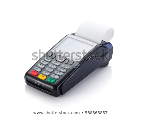 POS payment terminal isolated on white Stock photo © jordanrusev