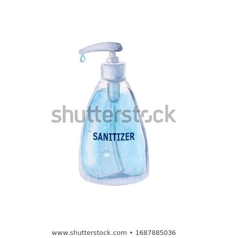 Gel boné mão azul lavagem líquido Foto stock © ssuaphoto