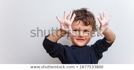 Little girl bactérias corpo ilustração criança estudante Foto stock © bluering