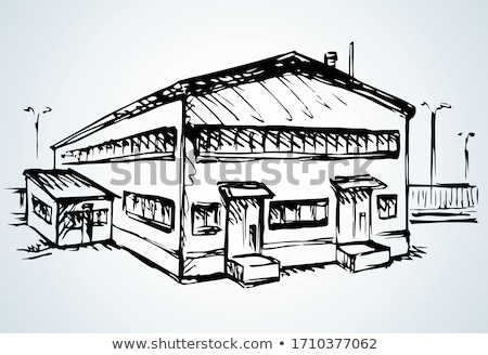 Freight storehouse facade isolated icon Stock photo © studioworkstock