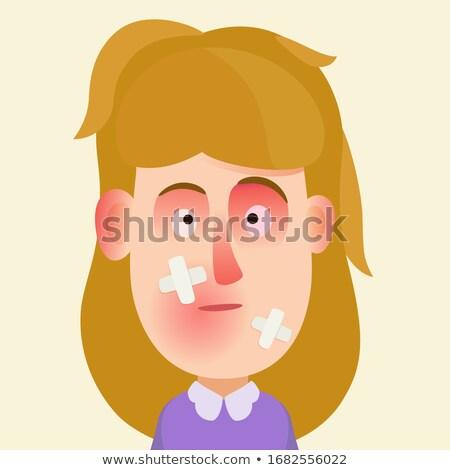 Donna nero occhi vittima lotta fumetto Foto d'archivio © rogistok