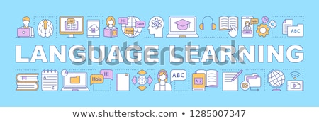 Banner Learning Foreign Languages Colorful Stock photo © Voysla