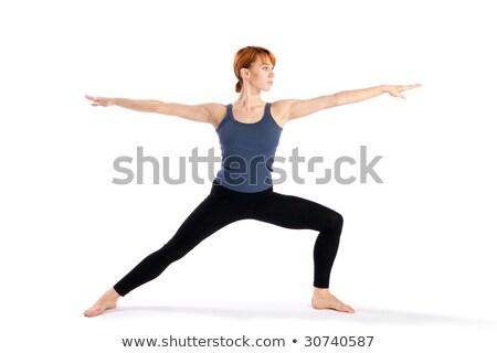 гири · женщину · расслабиться · тренировки · красный · спортзал - Сток-фото © sumners