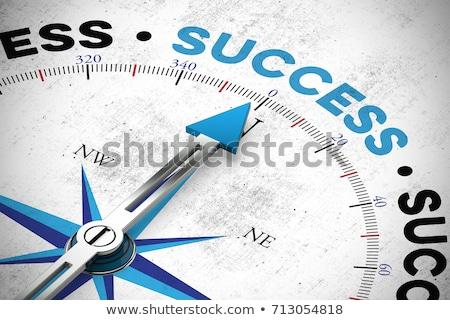 Negocios éxito motivación persona brújula búsqueda Foto stock © Lightsource