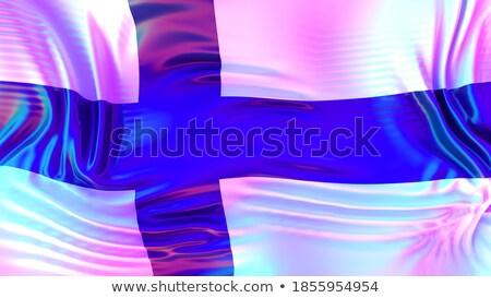 Finland LGBT flag. Finnish Symbol of tolerant. Gay sign rainbow Stock photo © popaukropa