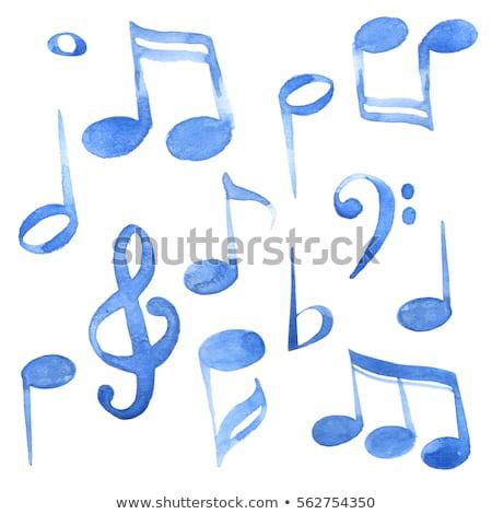notas · musicais · aquarela · textura · abstrato · vetor · borboleta - foto stock © odina222