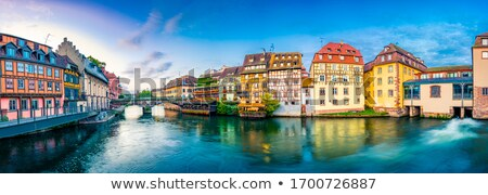 Strasbourg city facades and river Alsace France Stock photo © lunamarina