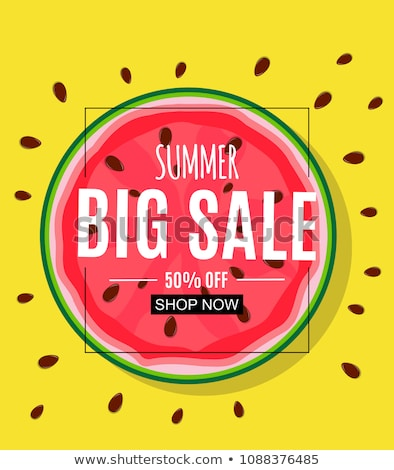 paper art hot summer sale vector template design stock photo © SaqibStudio