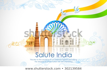 15th of august independence day of india with wavy flag design Stock photo © SArts