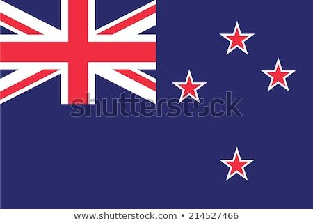 Nova Zelândia bandeira branco projeto assinar azul Foto stock © butenkow