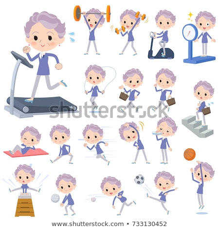 blue one piece old women_Sports & exercise Stock photo © toyotoyo