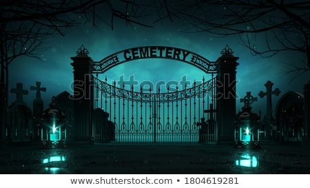Haunted Cemetery Stock photo © Lightsource