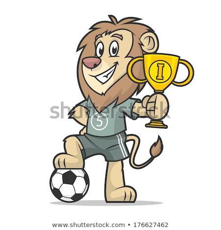 lion soccer ball sports mascot stock photo © krisdog