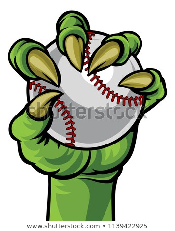 волка · бейсбольной · талисман · сердиться · животного · спортивных - Сток-фото © krisdog