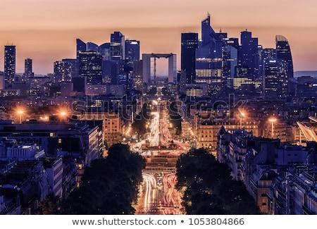 Paris quartier des affaires automne gratte-ciel verre façade Photo stock © Givaga
