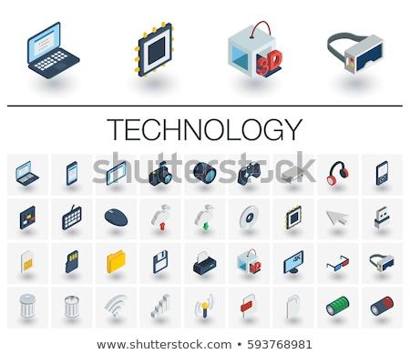 Felhő ikon 3D renderelt kép izolált fehér iroda Stock fotó © djmilic