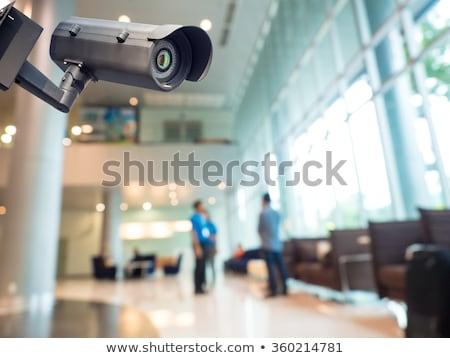 cctv · câmera · de · segurança · blue · sky · negócio · céu · casa - foto stock © simazoran
