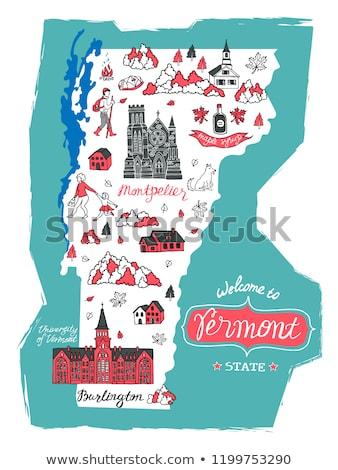 Karikatür Vermont örnek gülen grafik Amerika Stok fotoğraf © cthoman