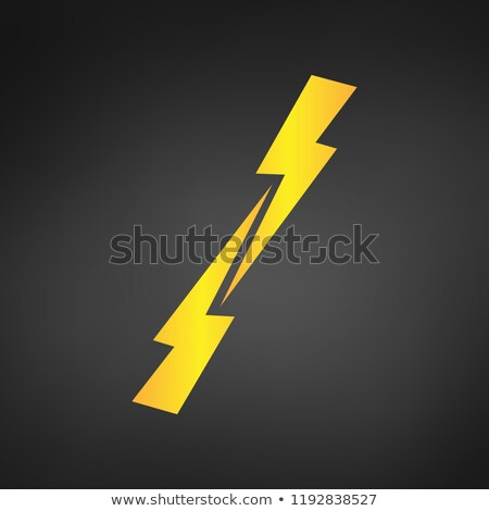Versus symbol. Glowing Lightning. Two opposite lightnings. vector illustration. Stock photo © kyryloff