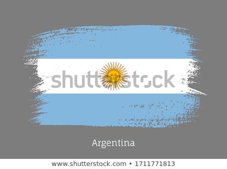 vlag · Argentinië · wind · gezicht · witte - stockfoto © daboost