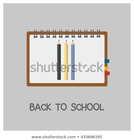 Powrót do szkoły projektu grafit farbują typografii Zdjęcia stock © articular