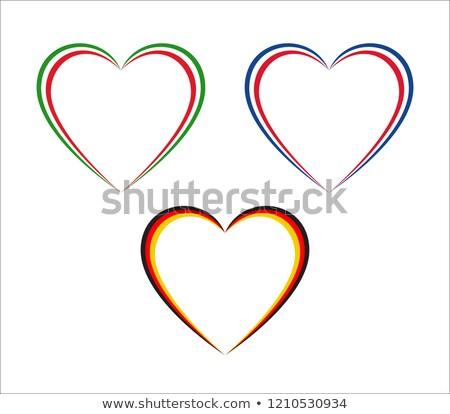 Trois coeurs italien français couleurs Photo stock © kurkalukas