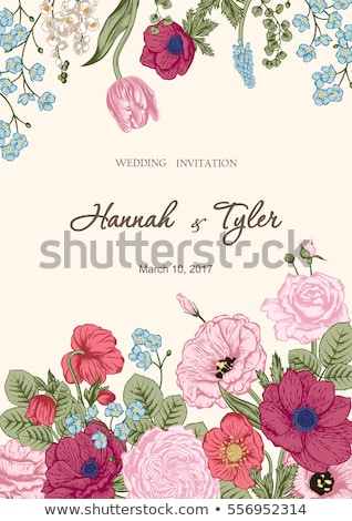 Flowers decorative background. Vertical floral pattern with lilie Stock photo © ESSL