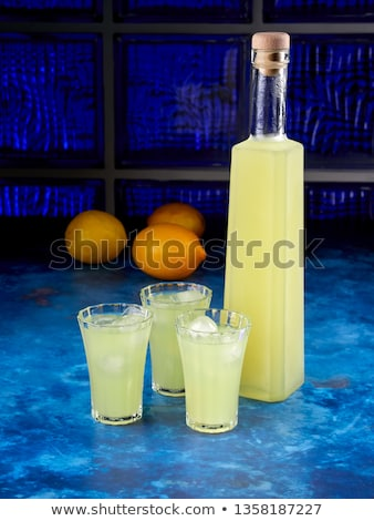 Three glasses of limoncello Stock photo © Alex9500