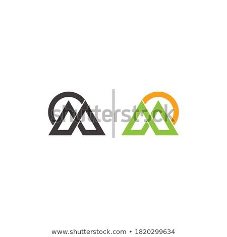 Stok fotoğraf: Mektup · m · güneş · logo · vektör · ikon